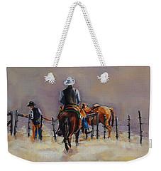 Fenceline Weekender Tote Bag by Jean Cormier