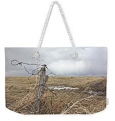 Fencepost Weekender Tote Bag by Linda Bianic