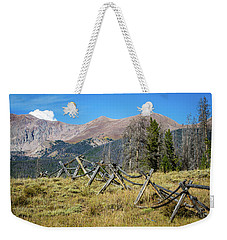 Fences Into The Rockies Weekender Tote Bag by Dawn Romine