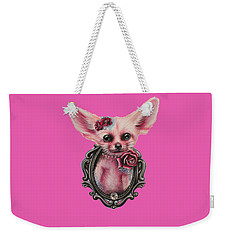 Weekender Tote Bag featuring the drawing Fennec Fox by Sheena Pike