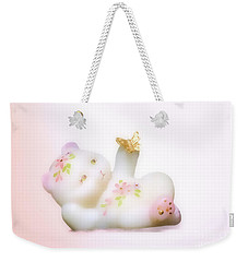 Fenton Art Glass Bear Weekender Tote Bag by Linda Phelps