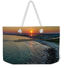 Weekender Tote Bag featuring the photograph Fenway Beach Sunset by Michael Hughes