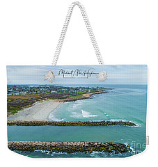 Fenway Beach, Weekapaug Weekender Tote Bag
