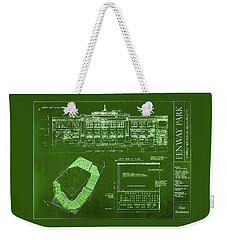 Fenway Park Blueprints Home Of Baseball Team Boston Red Sox Weekender Tote Bag