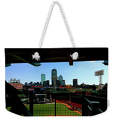 Weekender Tote Bag featuring the photograph Fenway Park, Xi  by Iconic Images Art Gallery David Pucciarelli