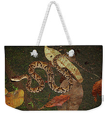 Weekender Tote Bag featuring the photograph Fer-de-lance, Bothrops Asper by Breck Bartholomew