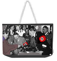 Ferdinand Porsche Showing The Prototype Of The Vw Beetle To Adolf Hitler 1935-2015 Weekender Tote Bag