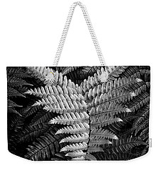 Fern In Black And White Weekender Tote Bag
