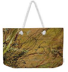 Fern Series Ping To Gray Tendril Detail Weekender Tote Bag
