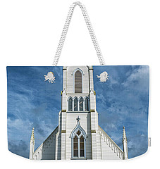Weekender Tote Bag featuring the photograph Ferndale Catholic Church by Greg Nyquist
