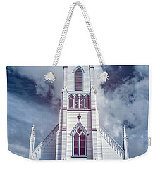 Weekender Tote Bag featuring the photograph Ferndale Church In Infrared by Greg Nyquist