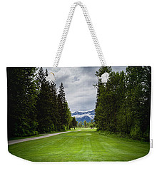 Weekender Tote Bag featuring the photograph Fernie Tee Box by Darcy Michaelchuk