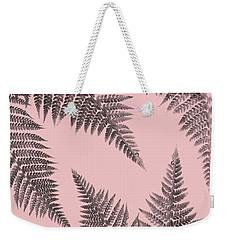 Ferns On Blush Weekender Tote Bag