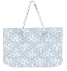 Ferns On Diamonds Lilac Gray Weekender Tote Bag
