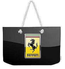 Ferrari 3d Badge- Hood Ornament On Black Weekender Tote Bag