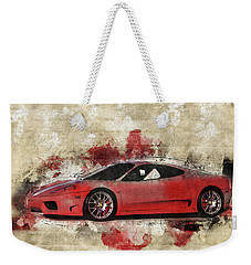 Weekender Tote Bag featuring the photograph Ferrari 430  by Joel Witmeyer