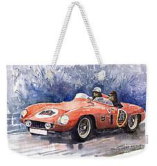 1953-1955 Ferrari 500 Mondial 1000 Miglia Weekender Tote Bag by Yuriy  Shevchuk