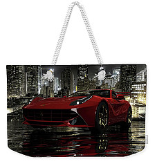 Weekender Tote Bag featuring the photograph Ferrari F12berlinetta by Louis Ferreira