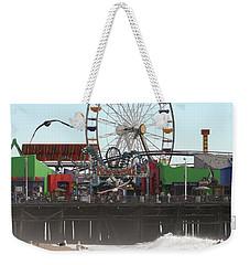Ferris Wheel At Santa Monica Pier Weekender Tote Bag