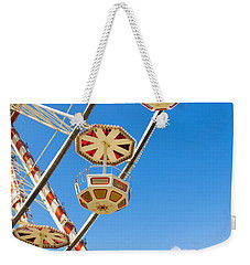 Ferris Wheel Cars In Toulouse Weekender Tote Bag by Semmick Photo