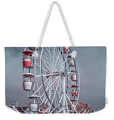 Ferris Wheel In Morning Weekender Tote Bag by Greg Nyquist