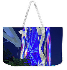 Ferris Wheel, Night Motion, The State Fair Of Texas Weekender Tote Bag