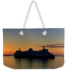 Ferry Boat Arrives To Mukilteo Ferry Terminal Weekender Tote Bag