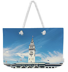Weekender Tote Bag featuring the photograph Ferry Building San Francisco 1915 - California Photography by Melanie Alexandra Price