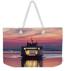 Ferry Issaquah Docking At Dawn Weekender Tote Bag
