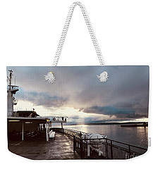 Ferry Morning Weekender Tote Bag