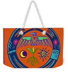 Weekender Tote Bag featuring the digital art Fertility Dance by Vagabond Folk Art - Virginia Vivier