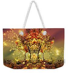 Festive Fractal Weekender Tote Bag