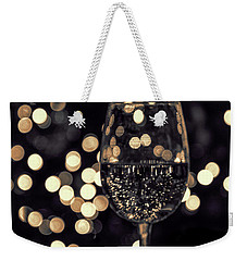 Weekender Tote Bag featuring the photograph Festive White Wine by Steven Sparks