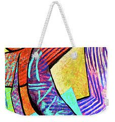 Weekender Tote Bag featuring the painting Festooned by Polly Castor