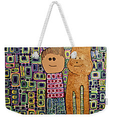 Weekender Tote Bag featuring the painting Fetch.. You Fetch by Donna Howard