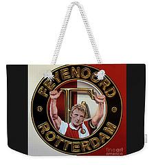 Feyenoord Rotterdam Painting Weekender Tote Bag by Paul Meijering