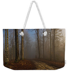 Foggy Morning In The Forest Weekender Tote Bag