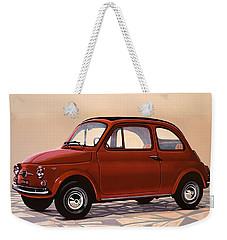 Fiat 500 1957 Painting Weekender Tote Bag