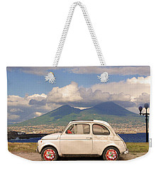 Fiat 500 Pizza Weekender Tote Bag