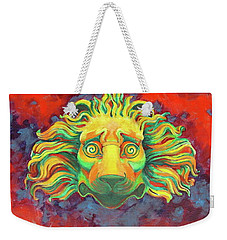 Weekender Tote Bag featuring the painting Fidardo's Lion by Andrew Danielsen