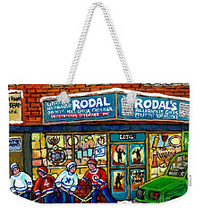 Fiddler On The Roof Painting Canadian Art Jewish Montreal Memories Rodal Gift Shop Van Horne Hockey  Weekender Tote Bag