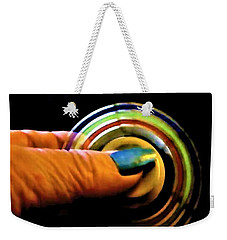 Weekender Tote Bag featuring the photograph Fidgets by Denise Fulmer