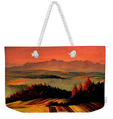 Field And Mountain Weekender Tote Bag