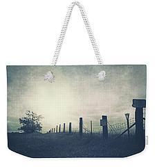 Field Beyond The Fence Weekender Tote Bag