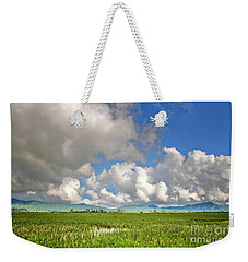 Weekender Tote Bag featuring the photograph Field by Charuhas Images