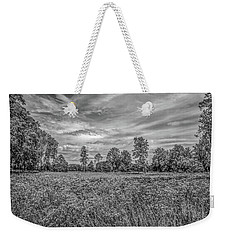 Weekender Tote Bag featuring the photograph Field Gaeddeholm  Bw by Leif Sohlman
