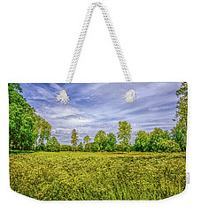 Weekender Tote Bag featuring the photograph Field Gaeddeholm. by Leif Sohlman