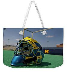 Field Hockey Helmet Weekender Tote Bag