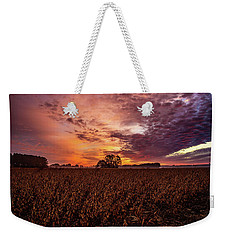 Field Of Beans Weekender Tote Bag by John Harding