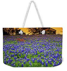 Field Of Blues Weekender Tote Bag